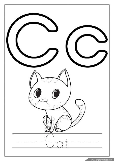 letter c coloring book alphabet coloring page letter c coloring c is for cat c letter book coloring