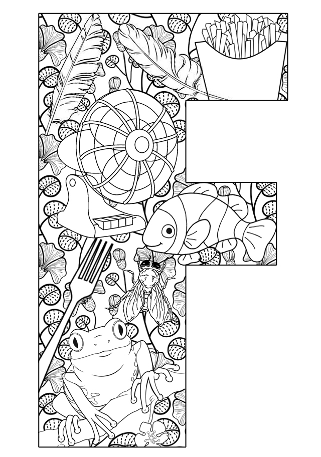 letter f coloring pages for toddlers letter f is for friends coloring page from letter f coloring letter f pages toddlers for