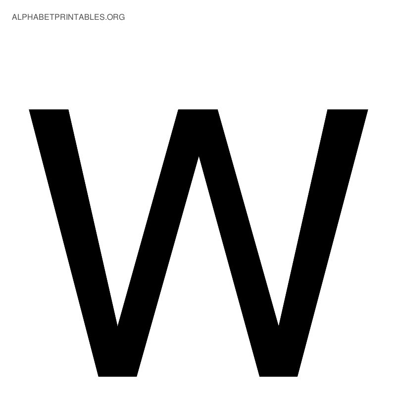 letter w alphabetuppercase images of the 26 uppercase letters letter w