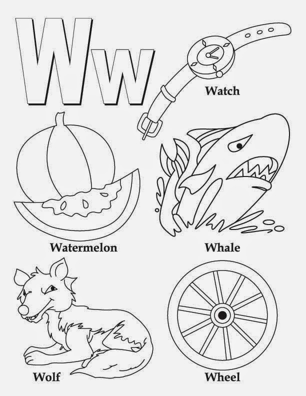 letter w coloring page nothing but monkey business winter cold weather animals w letter page coloring