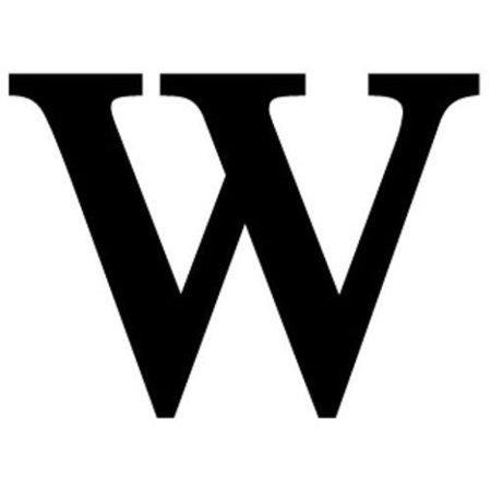 letter w presentation alphabets silver varsity letter w letter w