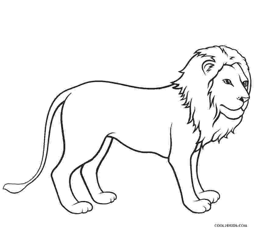 lion color page colour drawing free wallpaper disney cartoon the lion lion page color