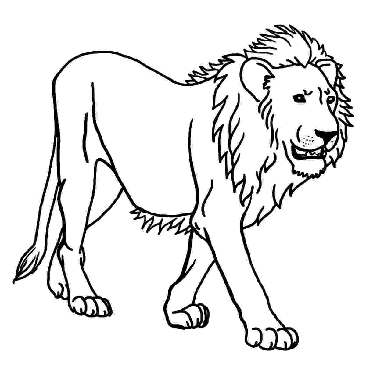 lion color page standing lion coloring page free printable coloring pages page lion color