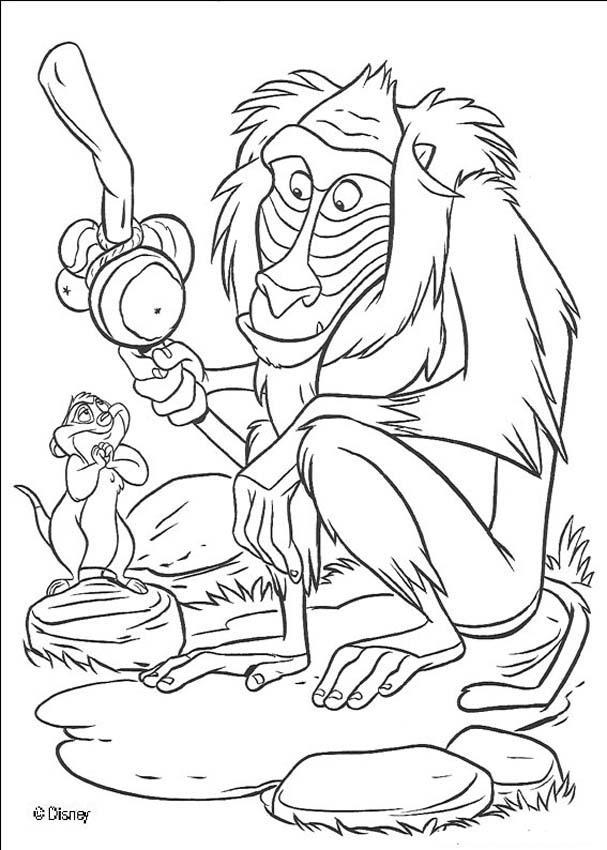 lion king coloring page rafiki the monkey coloring pages hellokidscom page lion king coloring