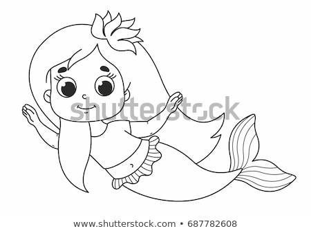 little mermaid pics cute little mermaid vector illustration kids stock vector pics mermaid little