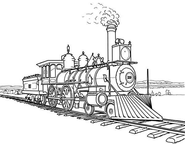 locomotive coloring pages steam locomotive on bumpy railroad coloring page color luna pages locomotive coloring