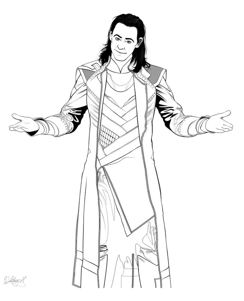 loki coloring pages loki lineart by stephenkingftw on deviantart pages loki coloring