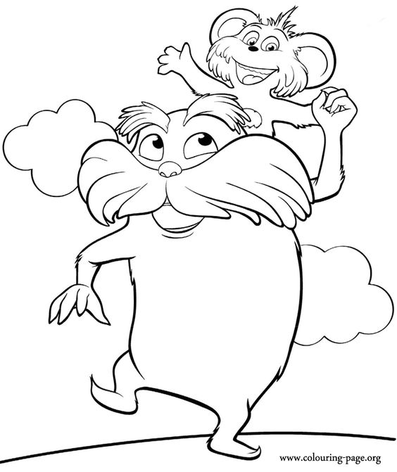 lorax coloring page beautiful coloring sheets and colors on pinterest lorax page coloring