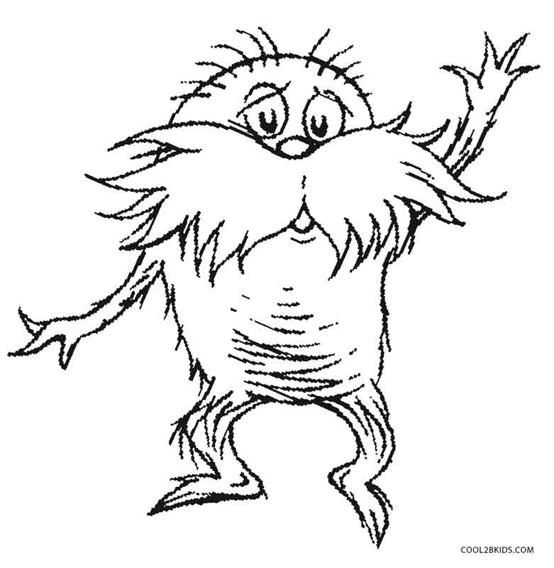 lorax coloring page printable lorax coloring pages for kids cool2bkids lorax page coloring