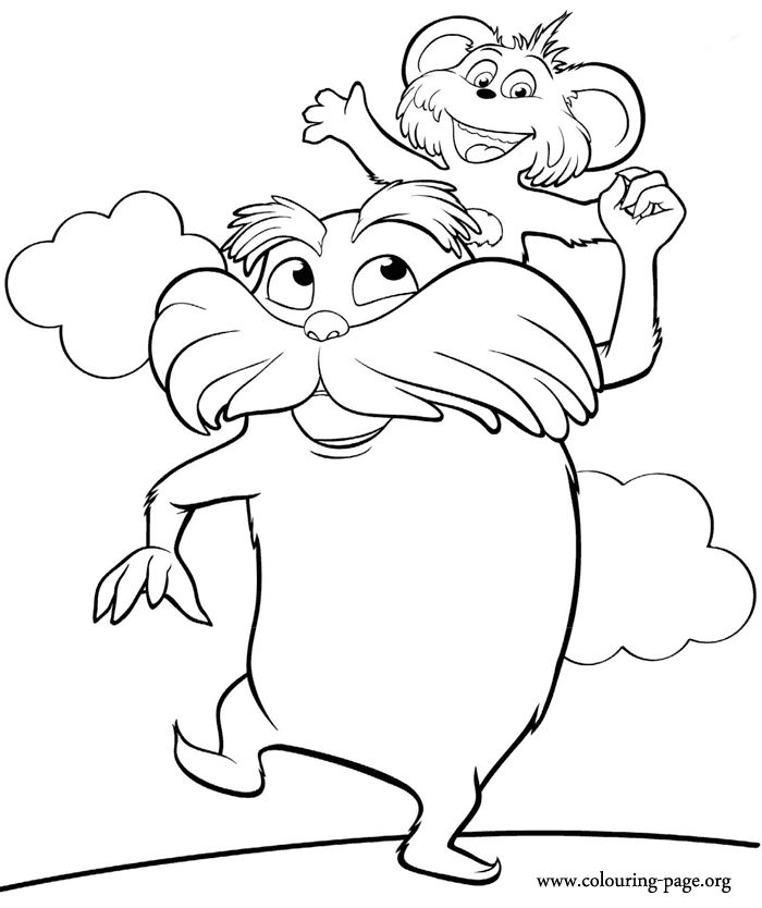 lorax coloring pages lorax mustache template printable sketch coloring page lorax coloring pages