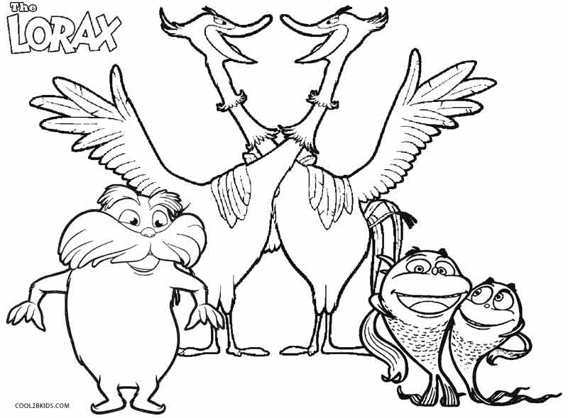 lorax coloring pages printable lorax coloring pages for kids cool2bkids lorax pages coloring