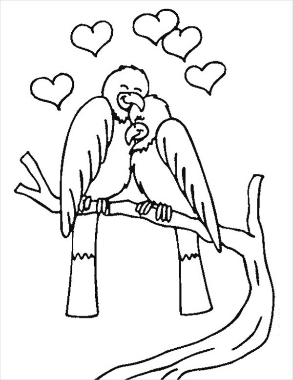 love birds coloring pages 10 valentine39s day coloring pages jpg psd ai love pages birds coloring