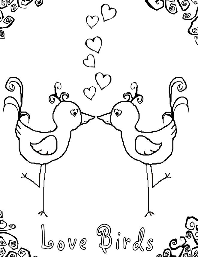 love birds coloring pages lovebird pages coloring birds love
