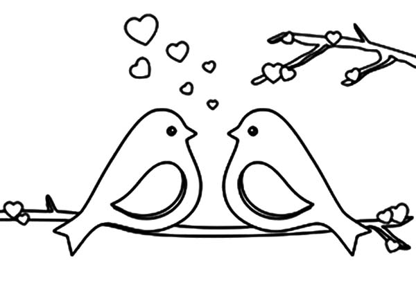 love birds coloring pages valentine coloring pages valentines day coloring pages love coloring birds pages