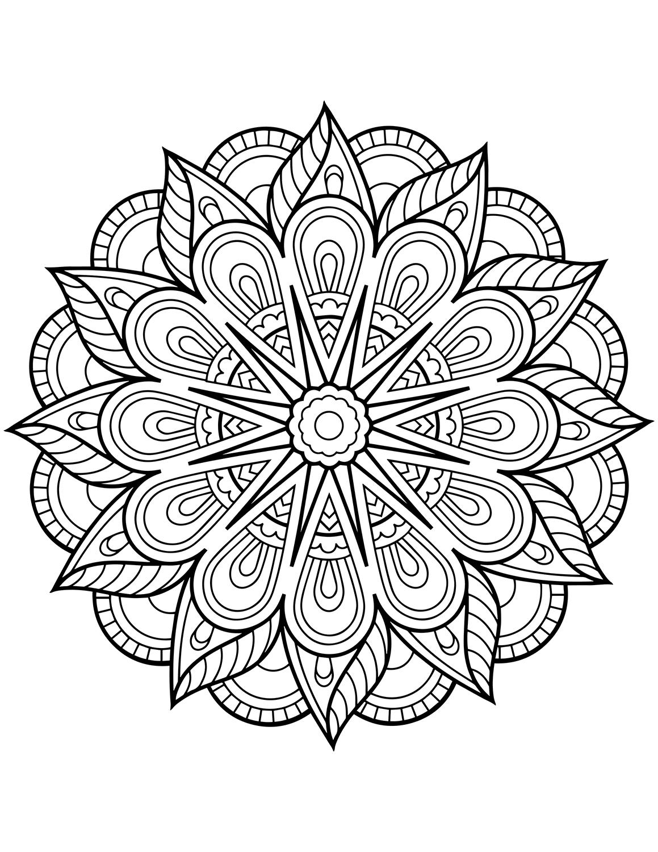 mandala coloring pictures flower mandala coloring page free printable coloring pages mandala pictures coloring