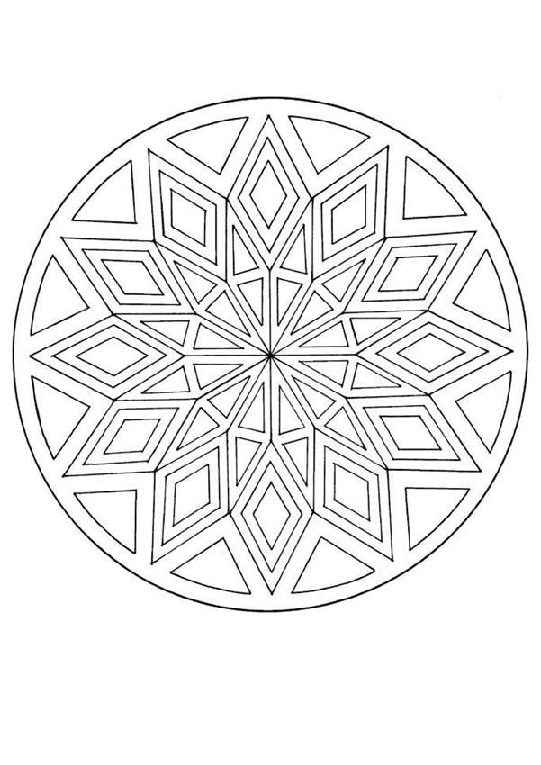 mandala coloring pictures mandala with a diamond pattern mandalas for advanced coloring pictures mandala