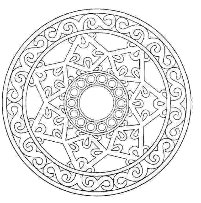 mandalas to color coloring sheet for kids coloring pages blog mandalas to color