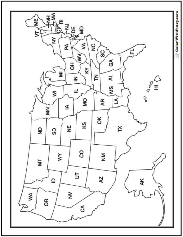 map of the united states coloring page united states of america map usa coloring art poster print page coloring the united states of map