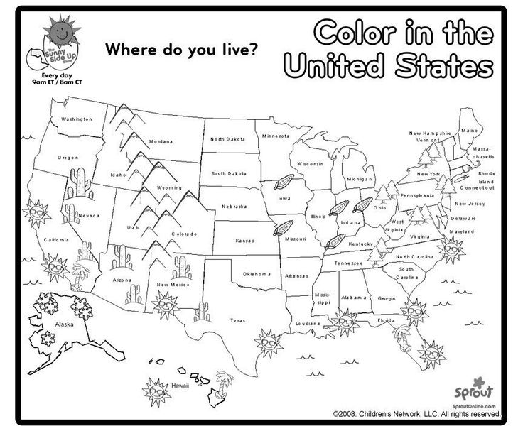 map of the united states coloring page united states outline map page states united coloring the map of