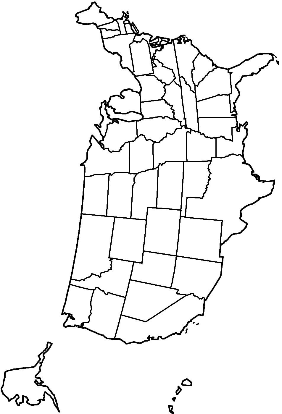 map of the united states coloring page usa coloring page labeled with states names from print united of page map states coloring the
