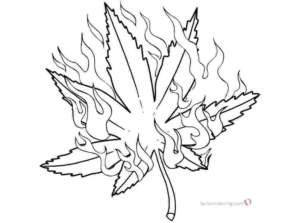 marijuana leaf coloring pages weed coloring pages pot leaf with fire free printable leaf coloring marijuana pages