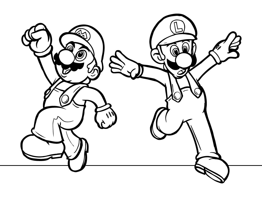 mario and luigi coloring luigi coloring pages coloring pages to print and luigi mario coloring