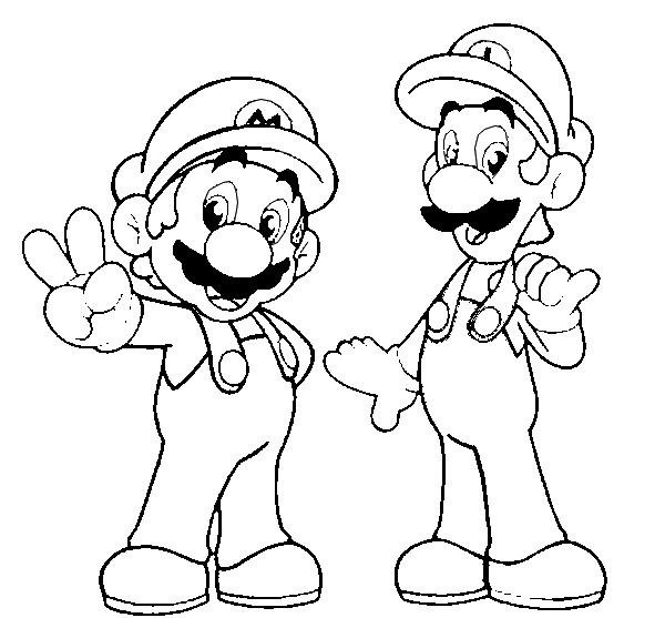 mario and luigi coloring luigi from mario bros coloring page free printable luigi mario and coloring