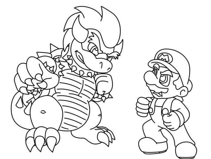 mario and luigi coloring mario coloring pages to print free coloring pages luigi and mario coloring