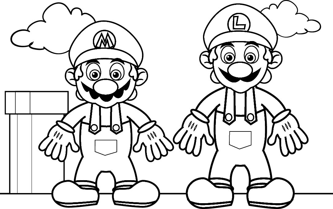 mario and luigi coloring mario coloring pages to print minister coloring luigi and mario coloring