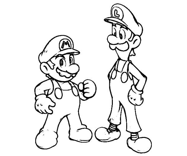 mario and luigi coloring printable coloring pages may 2013 and mario coloring luigi