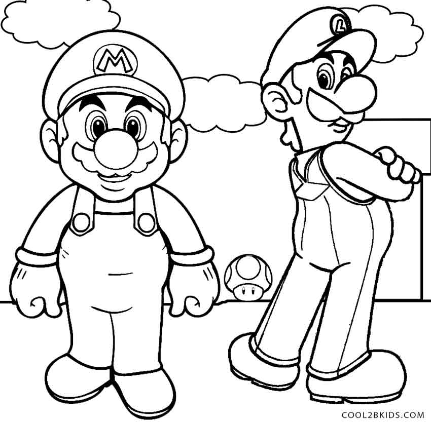mario and luigi coloring printable luigi coloring pages for kids cool2bkids and coloring luigi mario
