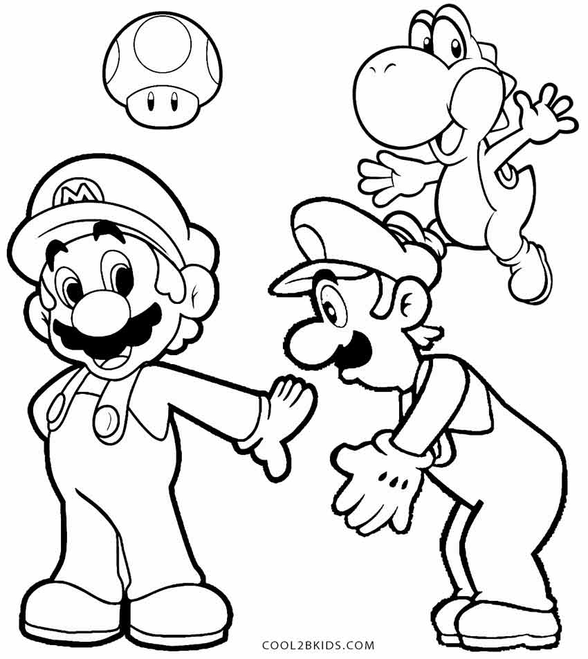 mario and luigi coloring printable luigi coloring pages for kids cool2bkids and luigi mario coloring