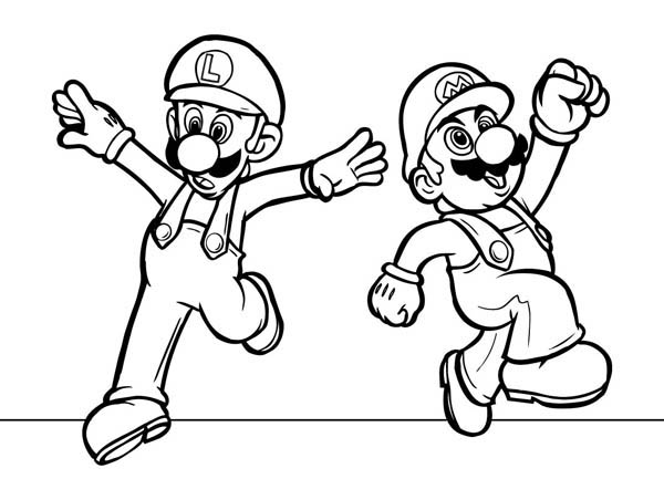 mario and luigi coloring printable luigi coloring pages for kids cool2bkids mario luigi coloring and