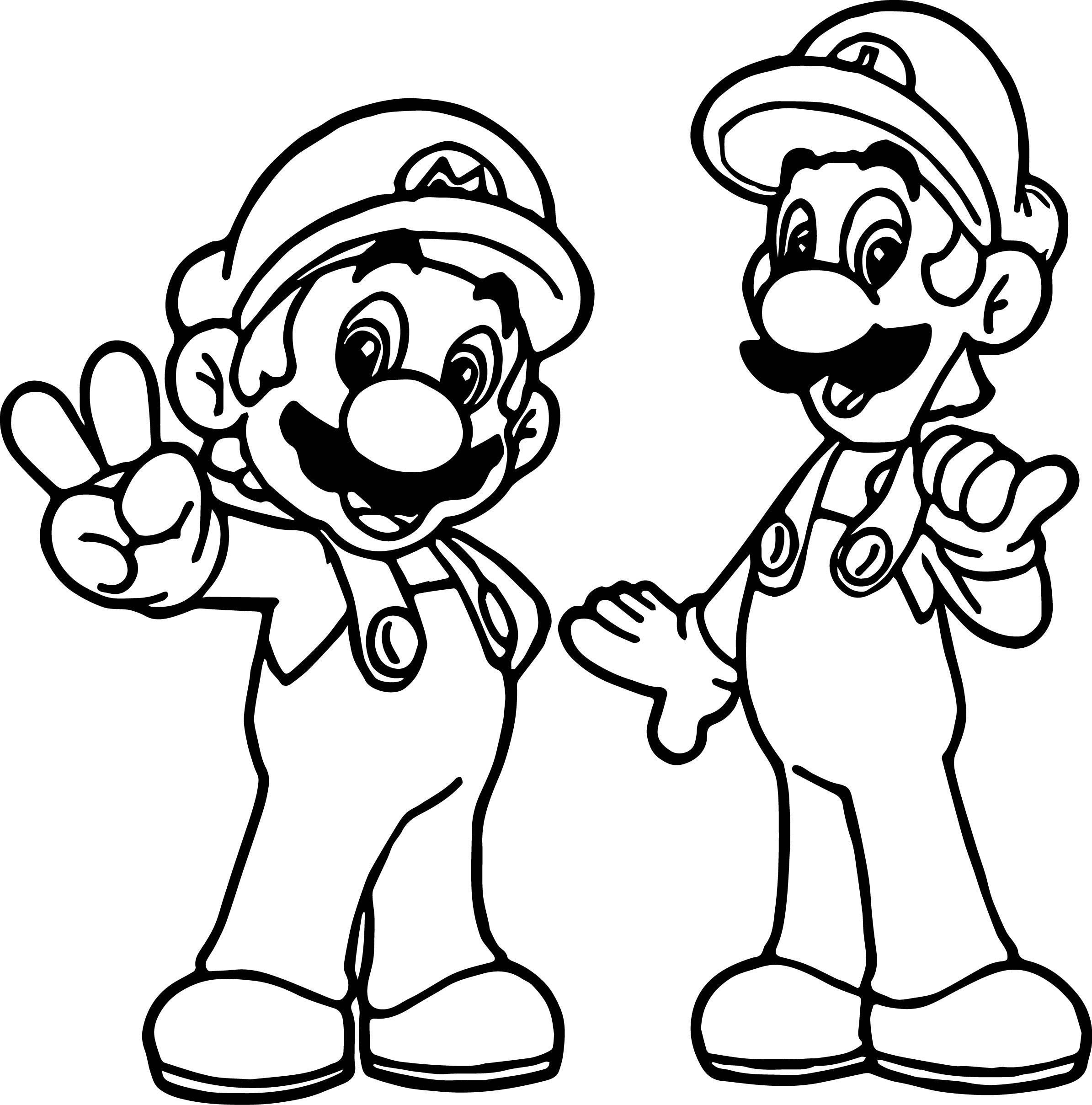 mario and luigi coloring super mario and luigi all right coloring page mario luigi coloring and