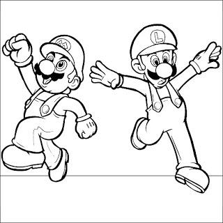 mario and luigi coloring super mario and luigi coloring page wecoloringpagecom and luigi coloring mario