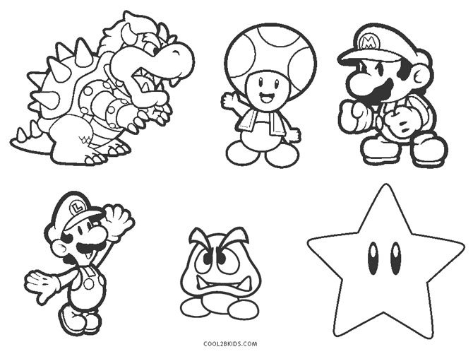mario characters coloring pages super mario brothers characters coloring page super mario characters coloring pages