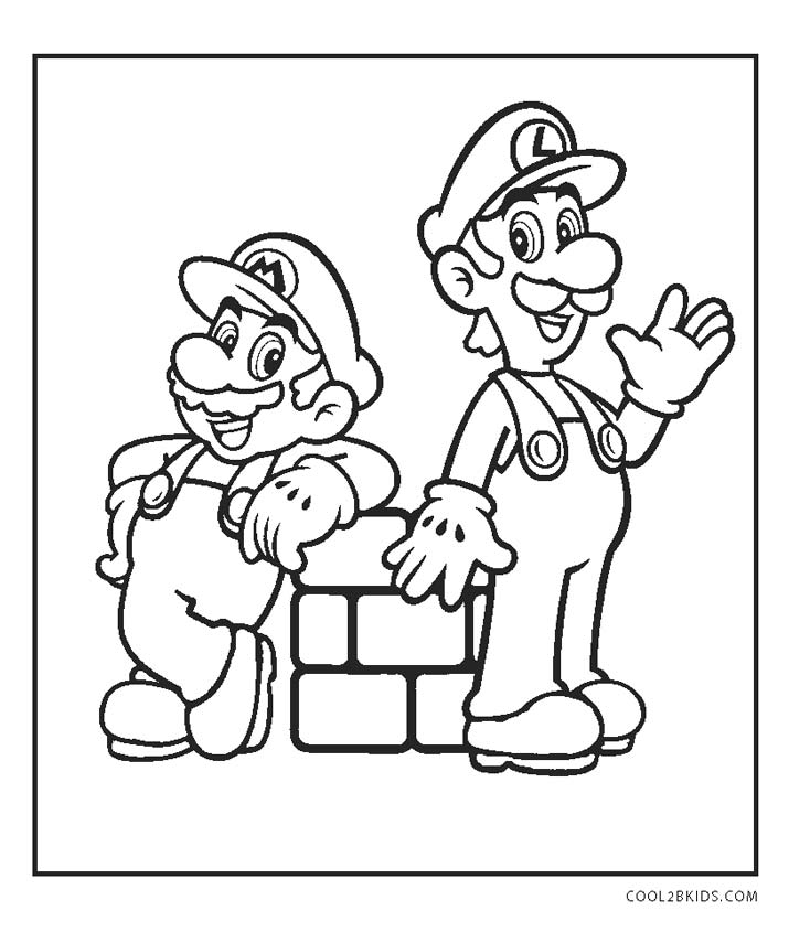 mario coloring free printable mario brothers coloring pages for kids coloring mario 1 1