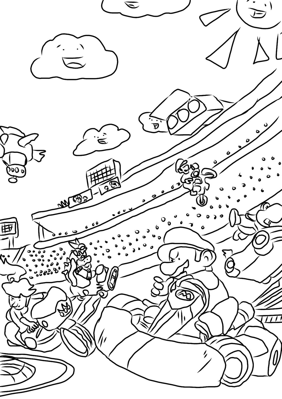 mario kart coloring mario kart coloring pages best coloring pages for kids kart coloring mario