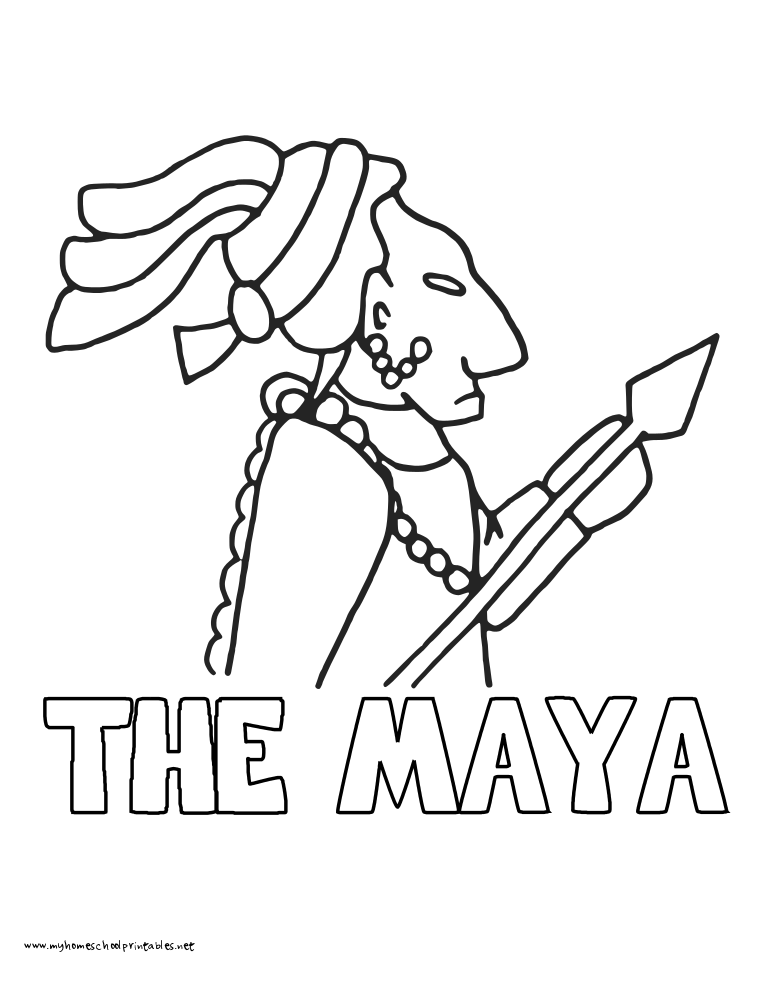 maya coloring coloring maya picture maya coloring