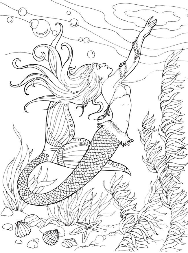mermaid coloring page mermaid coloring pages for adults best coloring pages mermaid page coloring
