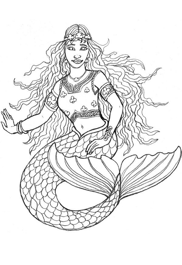 mermaid printable coloring pages free printable mermaid coloring pages for kids mermaid printable coloring pages