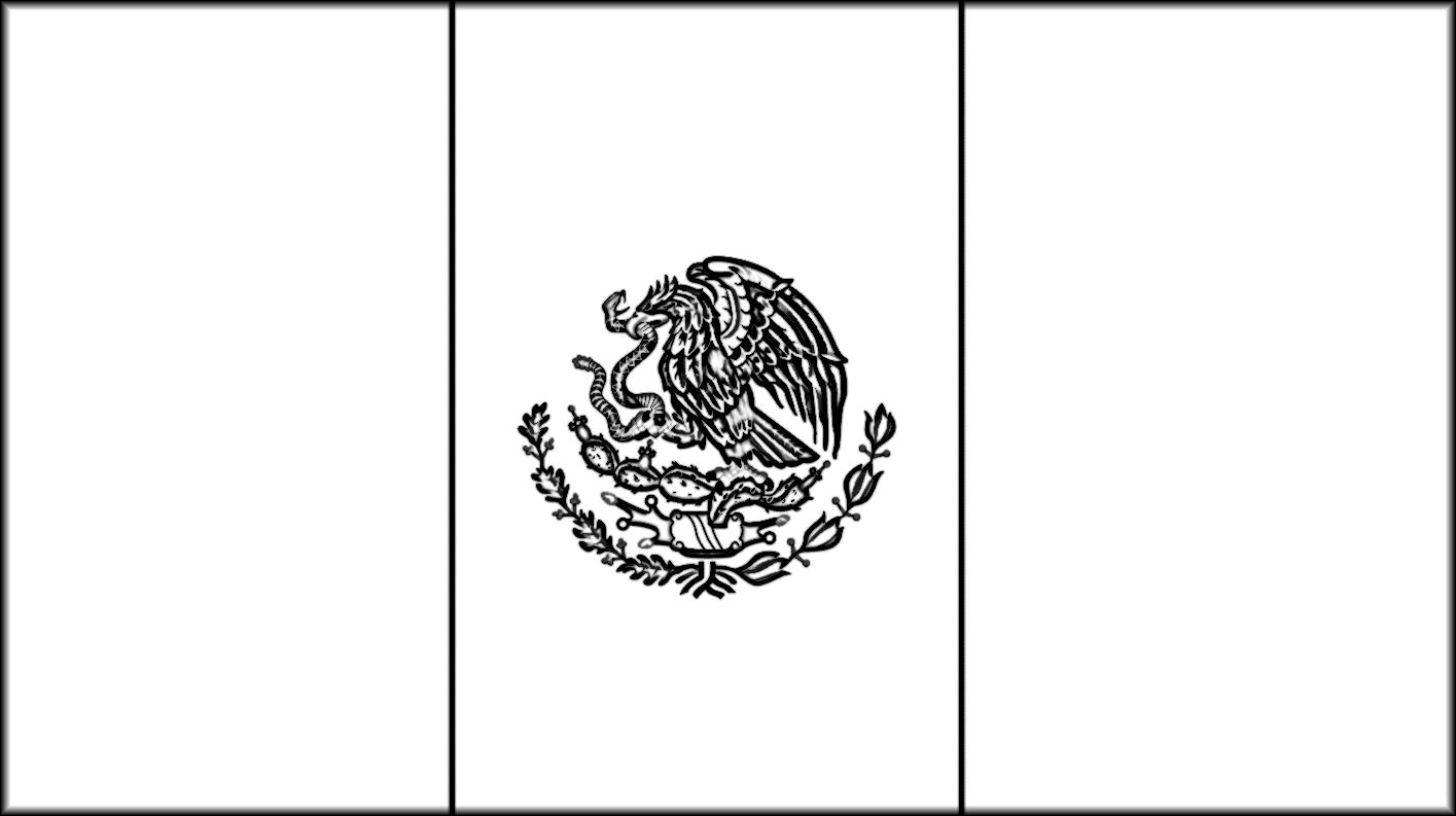mexican flag printable flag of mexico blackline master mexican printable flag