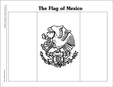 mexican flag printable flag of mexico pattern printable coloring pages mexican printable flag