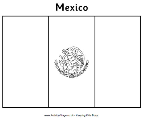mexican flag printable mexico coloring pages getcoloringpagescom printable flag mexican