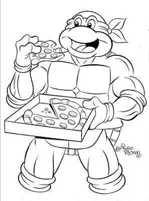 michelangelo ninja turtle coloring pages tmnt michelangelo inked by frankrapoza on deviantart coloring michelangelo pages ninja turtle