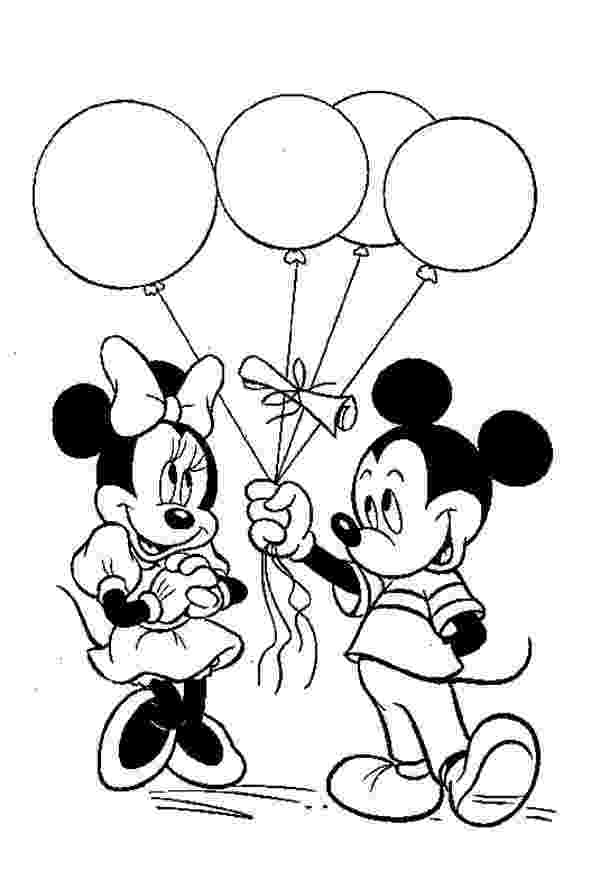 mickey mouse clubhouse coloring mickey give a ballon gift to minnie in mickey mouse clubhouse coloring mickey mouse