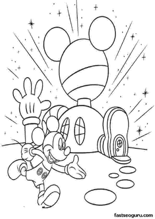 mickey mouse clubhouse coloring page mickey mouse clubhouse coloring pages for kids free clubhouse mickey mouse page coloring