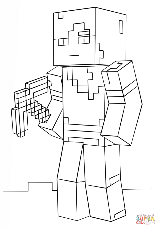 minecraft coloring page minecraft alex super coloring coloring pages for boys minecraft coloring page