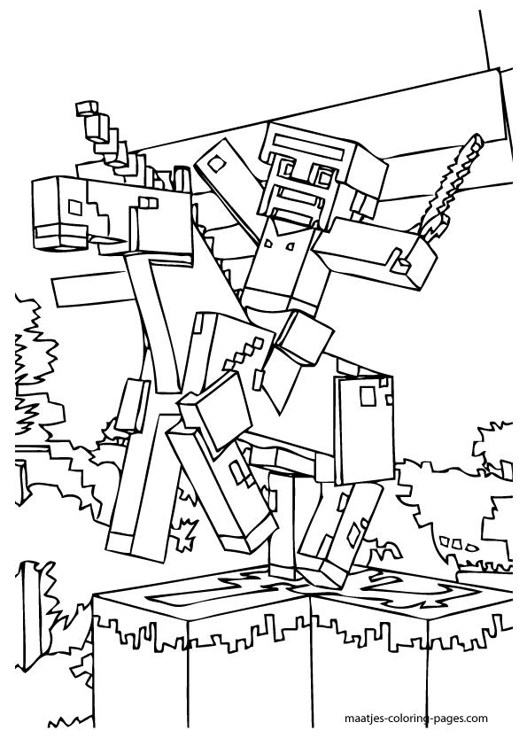 minecraft coloring page minecraft coloring page coloring picture steve and page coloring minecraft