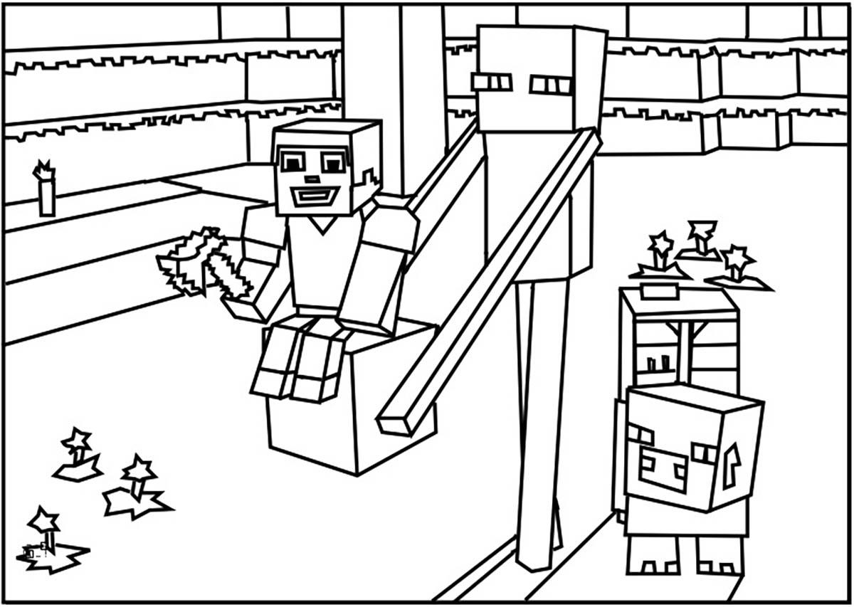minecraft coloring page minecraft coloring pages birthday printable coloring page minecraft